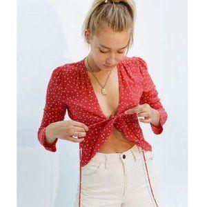 Realisation Par Bianca Top Red & White Star Silk